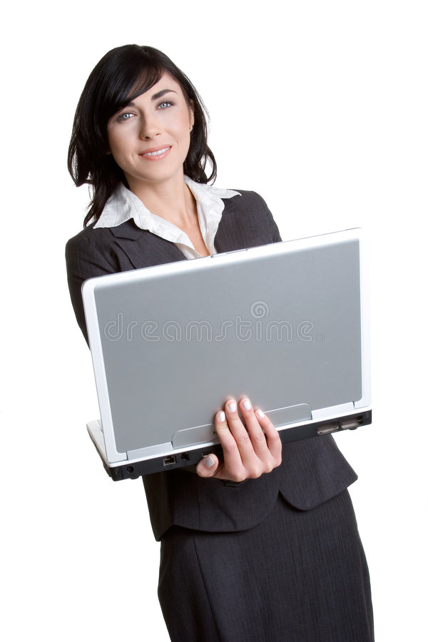 Mulher de negócios do portátil imagem de stock royalty free