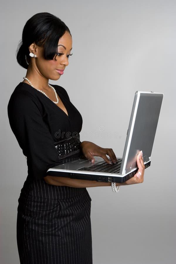 Mulher de negócios do portátil imagem de stock