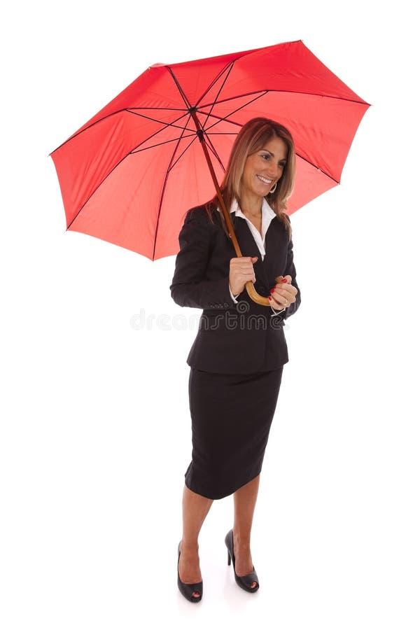 Mulher de negócios do seguro fotografia de stock