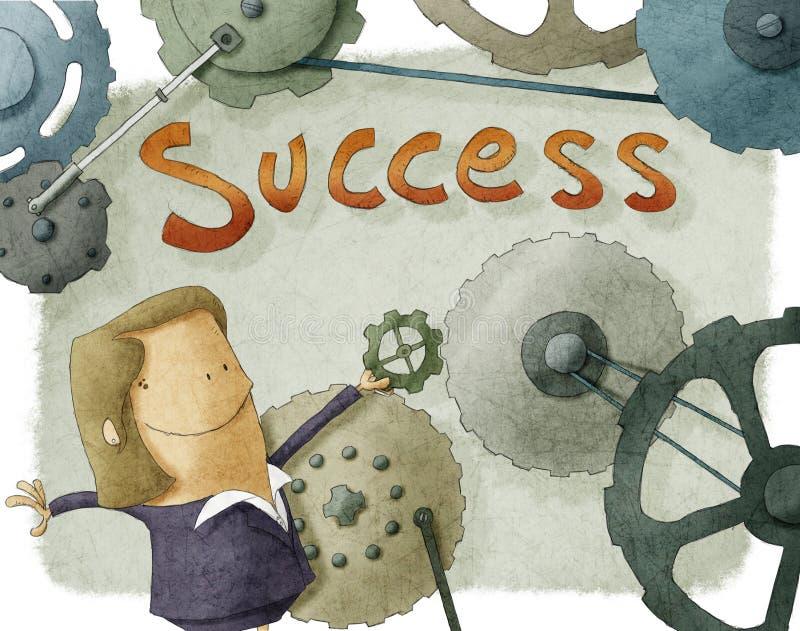 Mulher de negócios do sucesso ilustração do vetor
