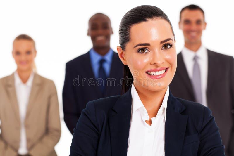 Mulher de negócios e equipe foto de stock royalty free