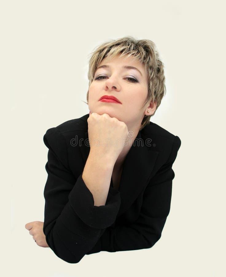 Mulher de negócios engraçada 3 imagens de stock