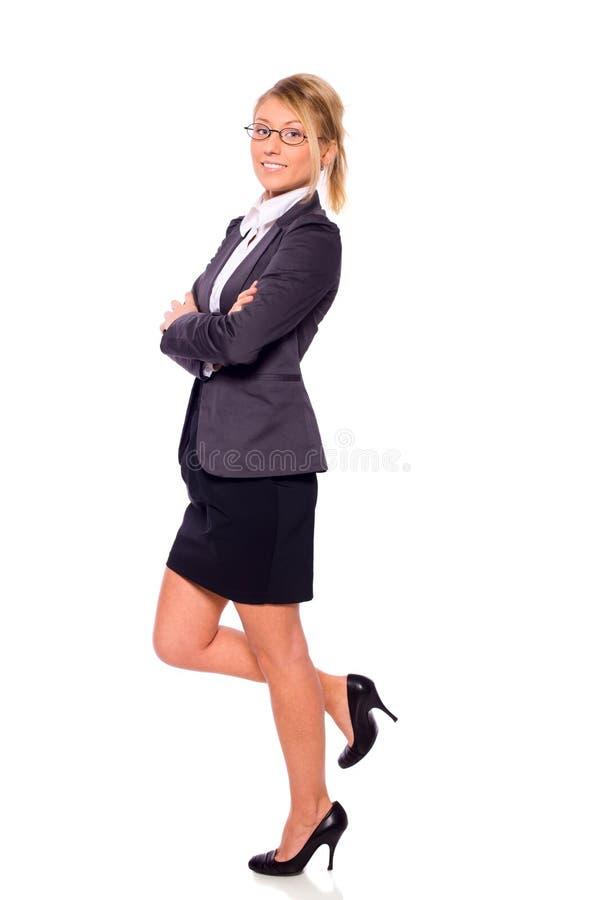 Download Mulher de negócios ereta foto de stock. Imagem de communication - 12804432