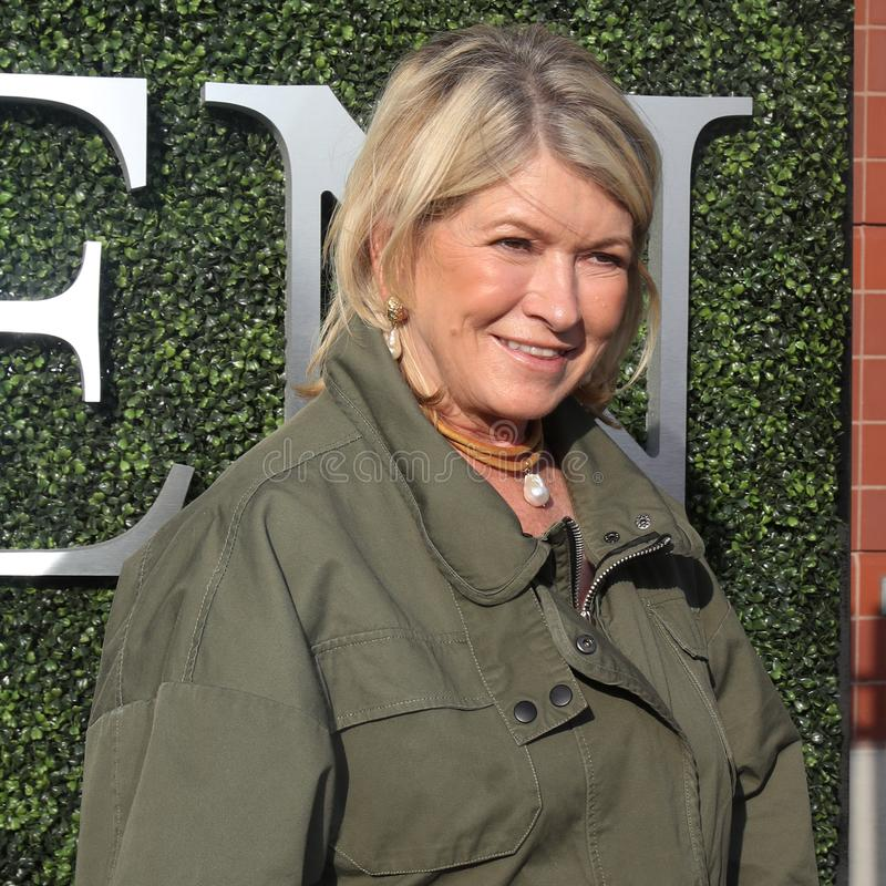 Mulher de negócios, escritor, e personalidade de televisão americanos Martha Stewart no tapete azul antes da noite da inauguração foto de stock royalty free