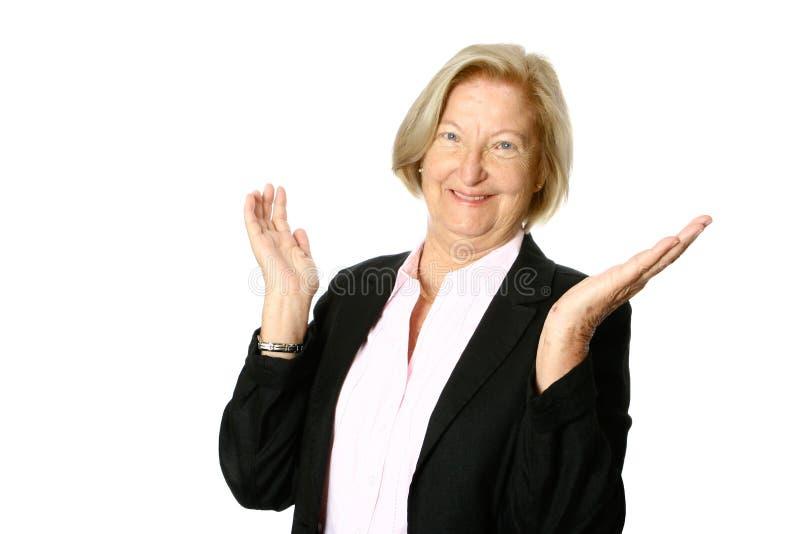 Mulher de negócios fêmea caucasiano imagens de stock royalty free