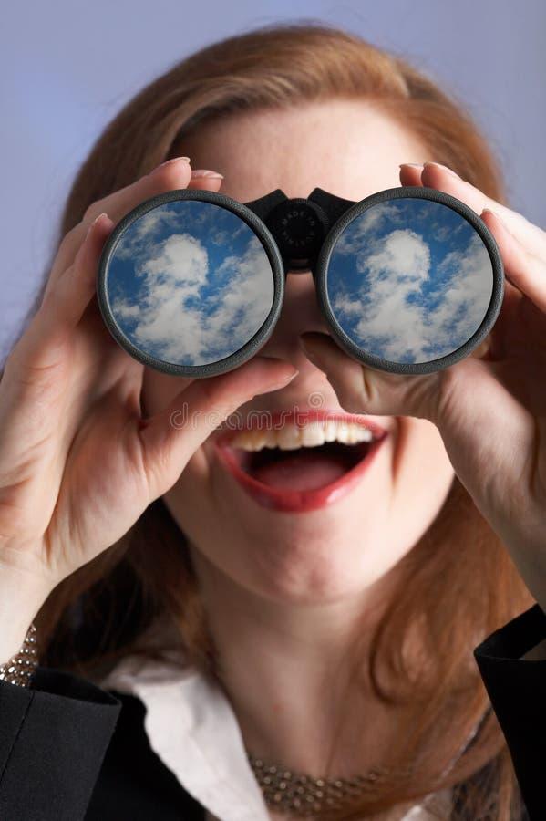 Mulher de negócios Far-seeing imagens de stock