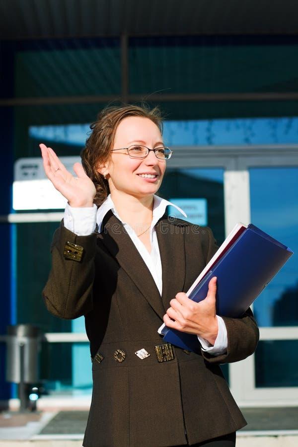 Mulher de negócios feliz. imagem de stock