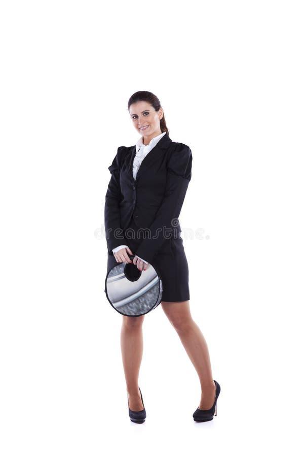 Mulher de negócios feliz foto de stock royalty free