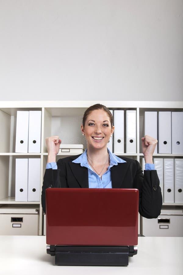 Mulher de negócios feliz imagem de stock royalty free