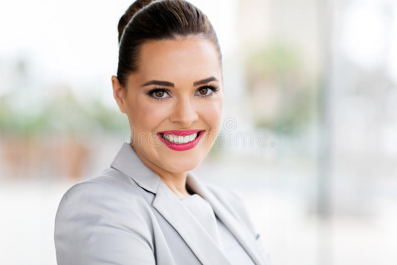 Mulher de negócios feliz foto de stock