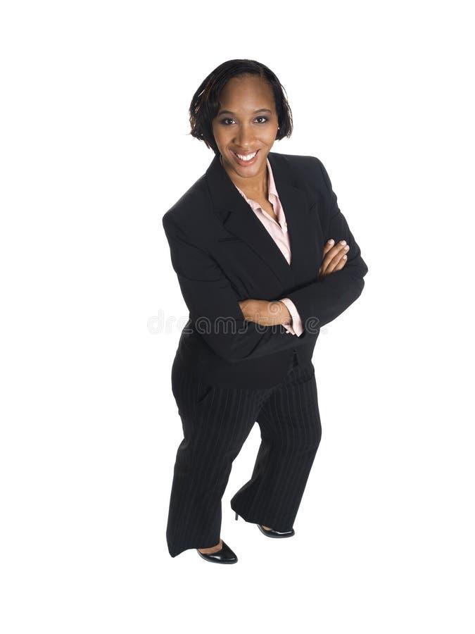 Mulher de negócios - feliz imagens de stock
