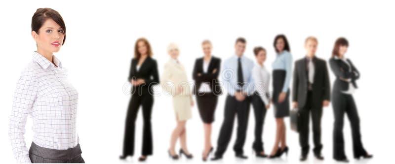 Mulher de negócios feliz nova imagens de stock royalty free