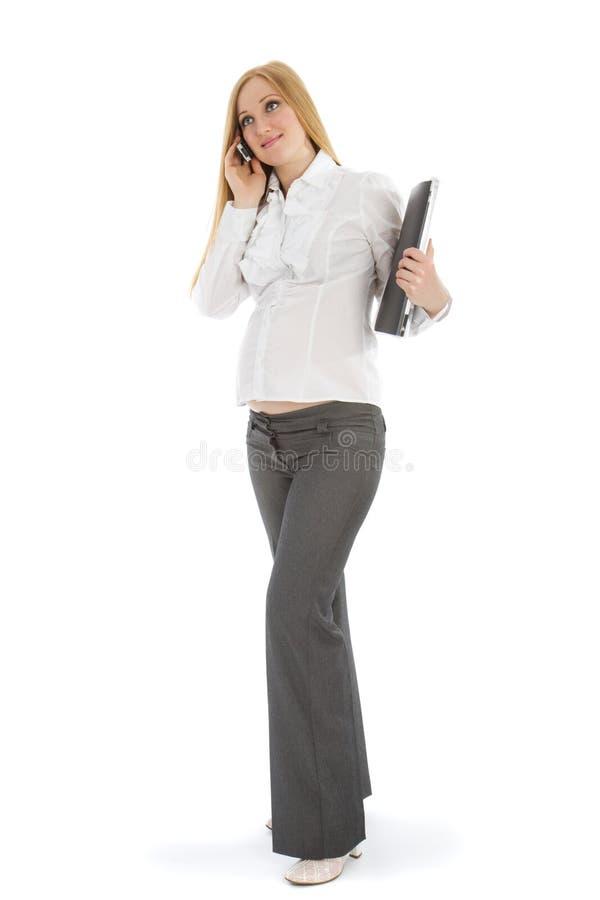 Mulher de negócios grávida imagens de stock royalty free