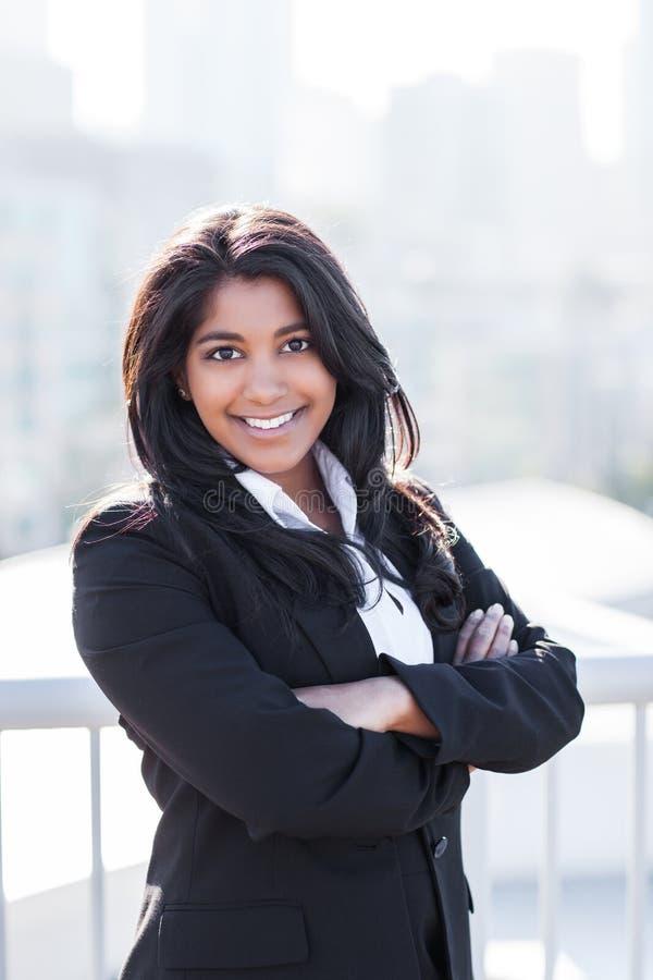 Mulher de negócios indiana asiática foto de stock
