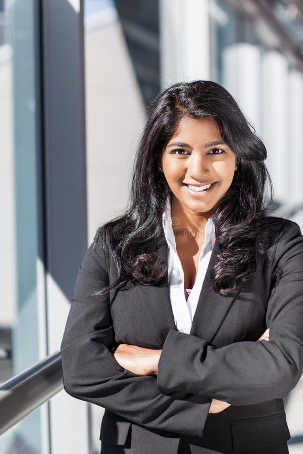 Mulher de negócios indiana asiática fotografia de stock