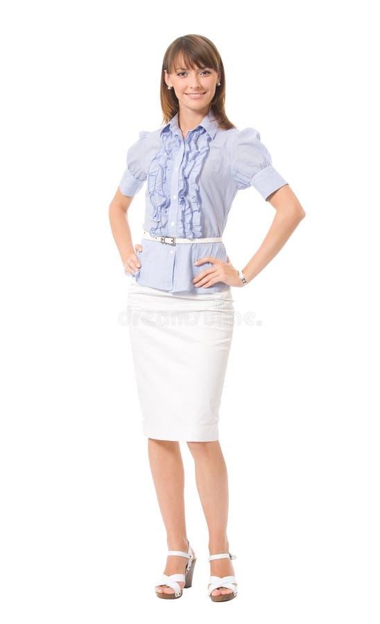 Mulher de negócios, isolada imagem de stock