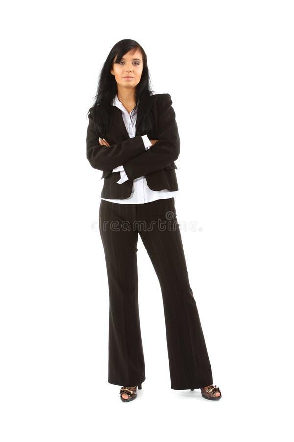 Mulher de negócios isolada no branco fotografia de stock