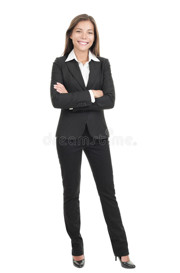 Mulher de negócios isolada no fundo branco imagem de stock