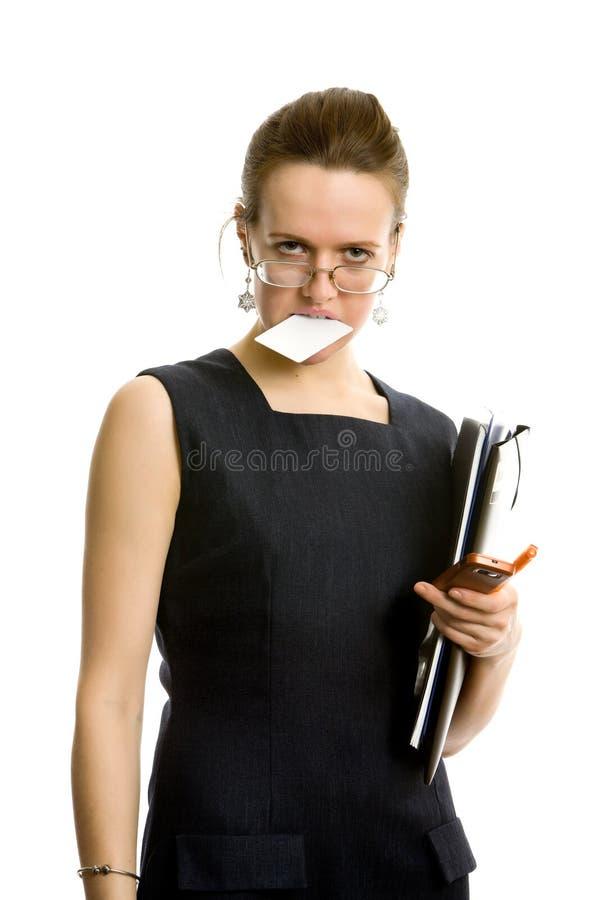 Mulher de negócios. Isolado no branco. imagem de stock