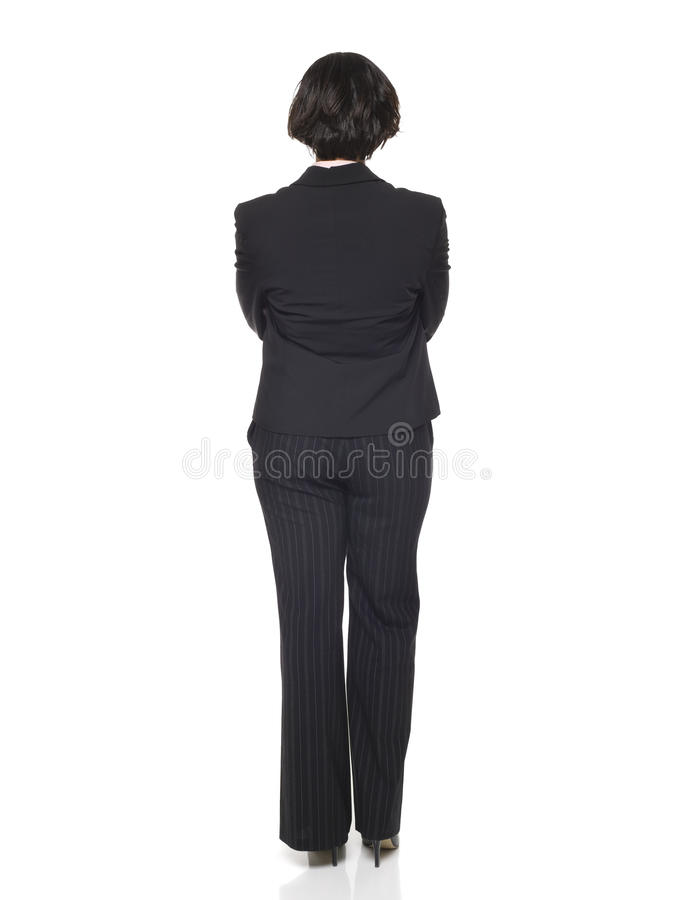 Mulher de negócios - lado traseiro foto de stock royalty free