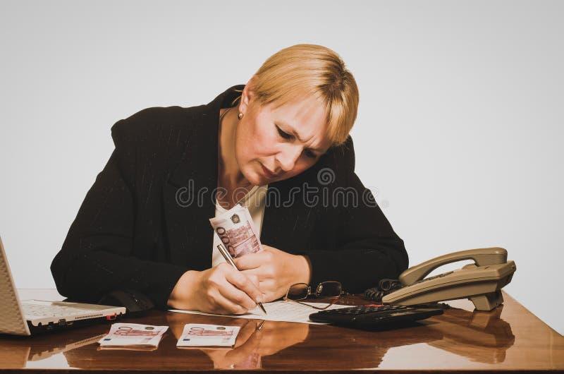 Mulher de negócios madura imagem de stock