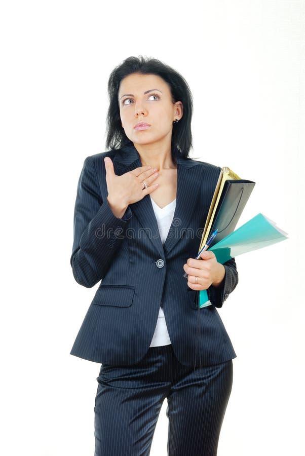 Mulher de negócios na confusão fotografia de stock