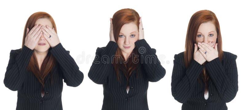 Mulher de negócios - nenhum mal imagem de stock