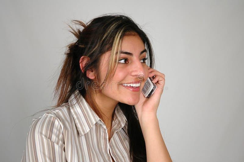 Mulher de negócios no cellphone-7 imagem de stock