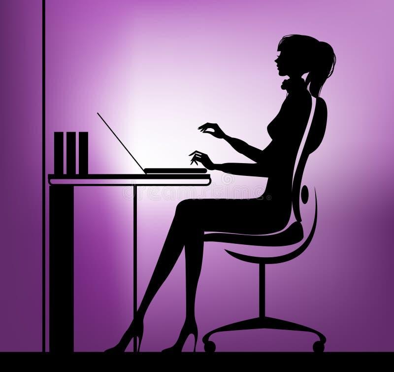 Mulher de negócios no fundo urbano ilustração stock