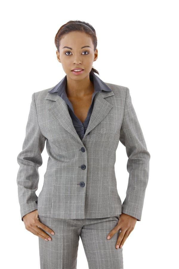 Mulher de negócios no terno imagem de stock