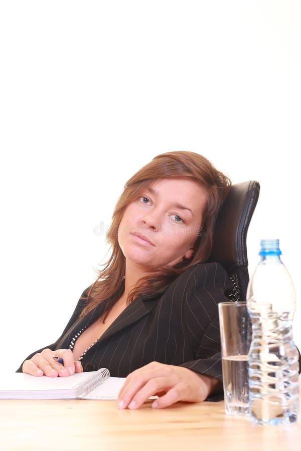 Mulher de negócios no trabalho imagem de stock royalty free
