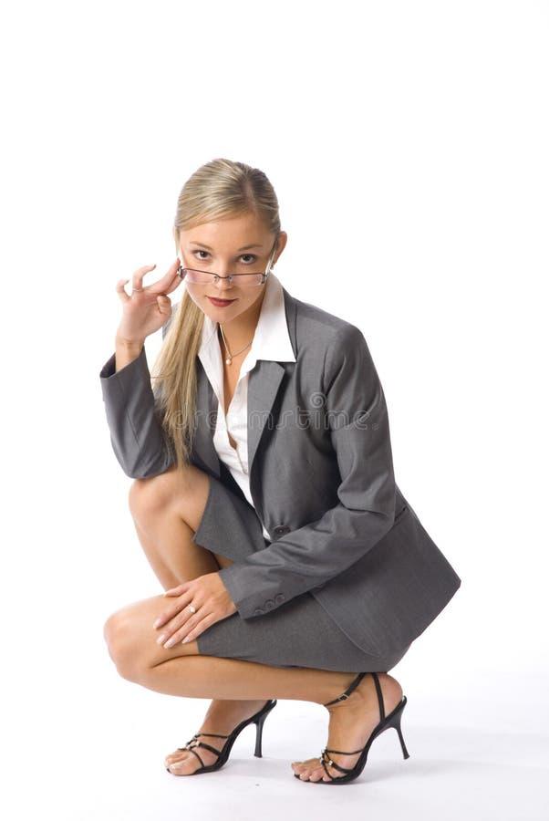 Mulher de negócios nos vidros fotos de stock royalty free