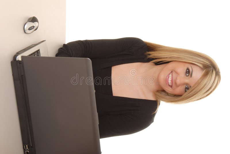 Mulher de negócios nova 1 fotografia de stock royalty free