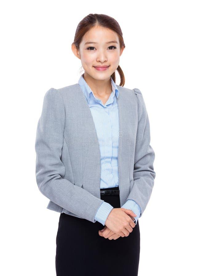 Mulher de negócios nova asiática imagens de stock
