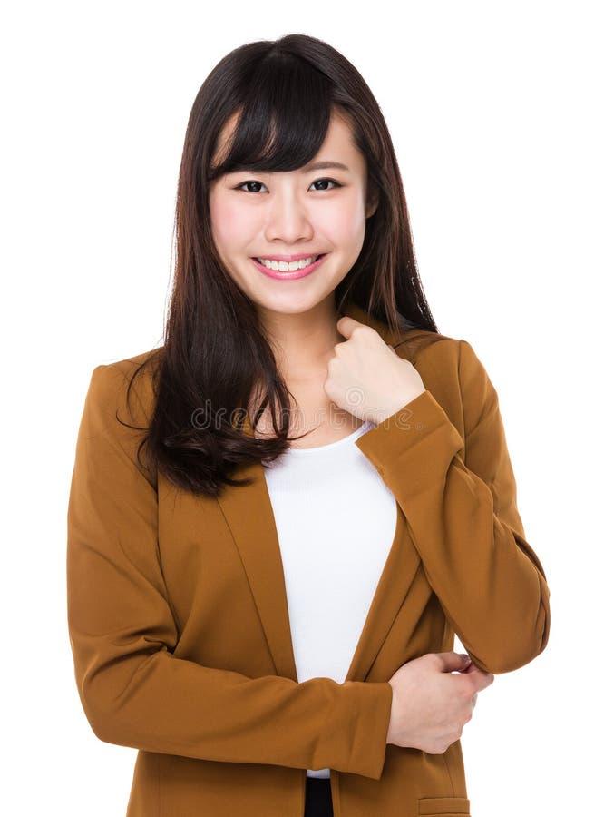 Mulher de negócios nova asiática fotografia de stock royalty free