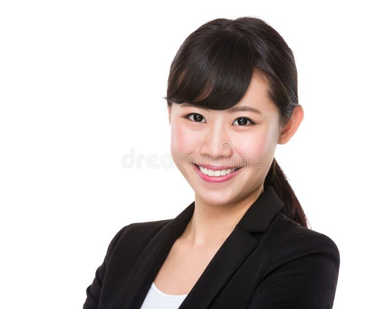 Mulher de negócios nova asiática fotos de stock