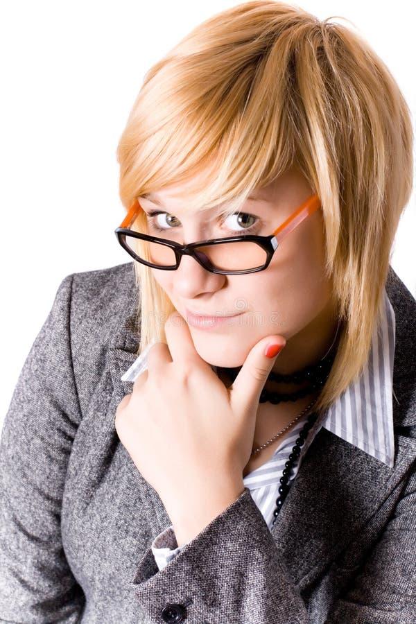 Mulher de negócios nova atrativa imagem de stock