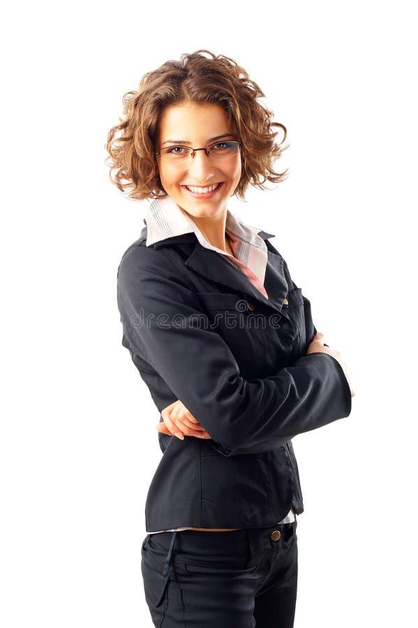 Mulher de negócios nova atrativa foto de stock
