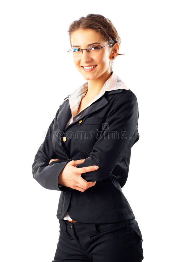 Mulher de negócios nova atrativa fotografia de stock