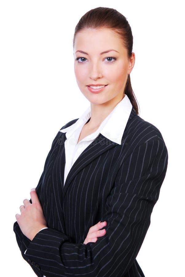Mulher de negócios nova bonito foto de stock