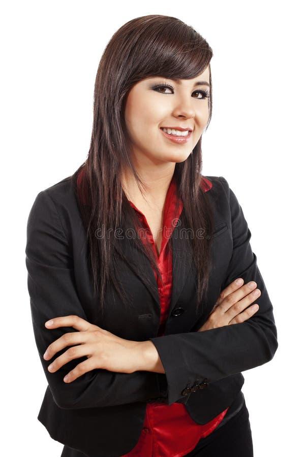 Mulher de negócios nova confiável imagem de stock