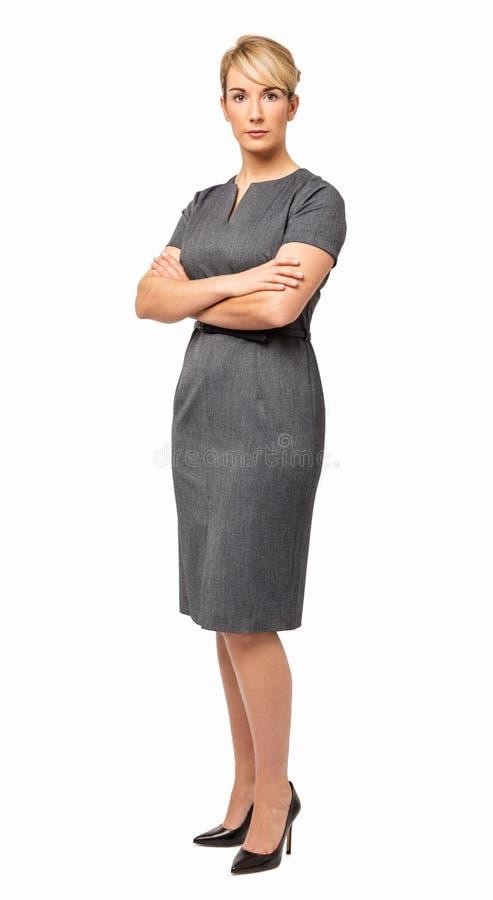 Mulher de negócios nova segura imagens de stock
