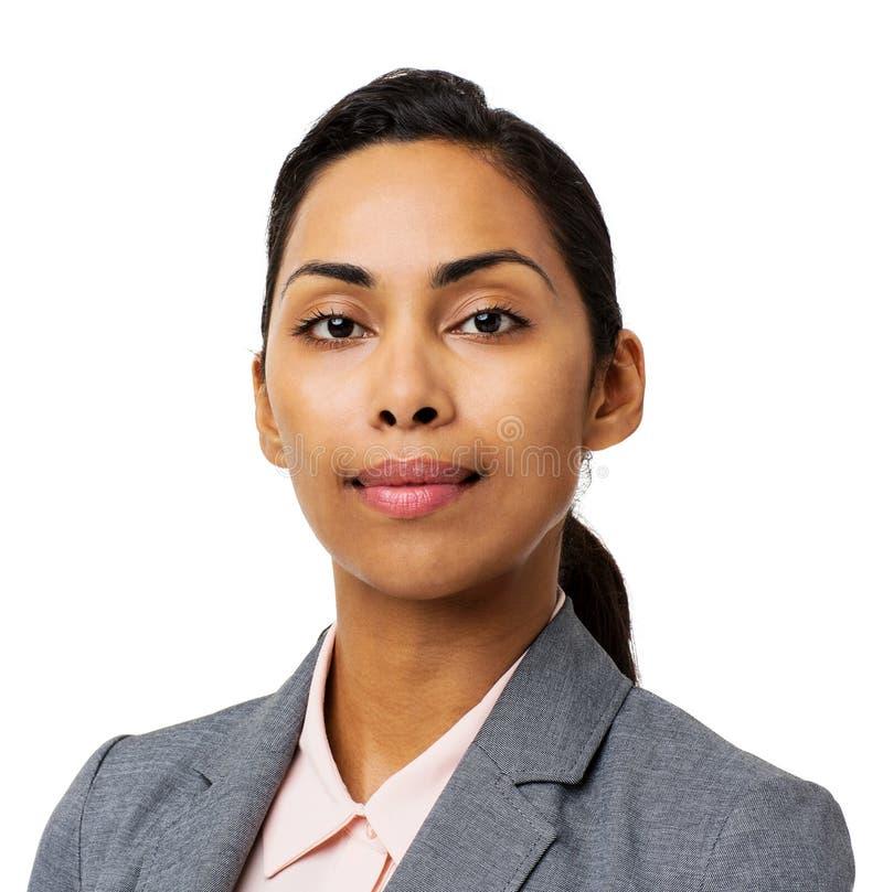 Mulher de negócios nova segura imagens de stock royalty free