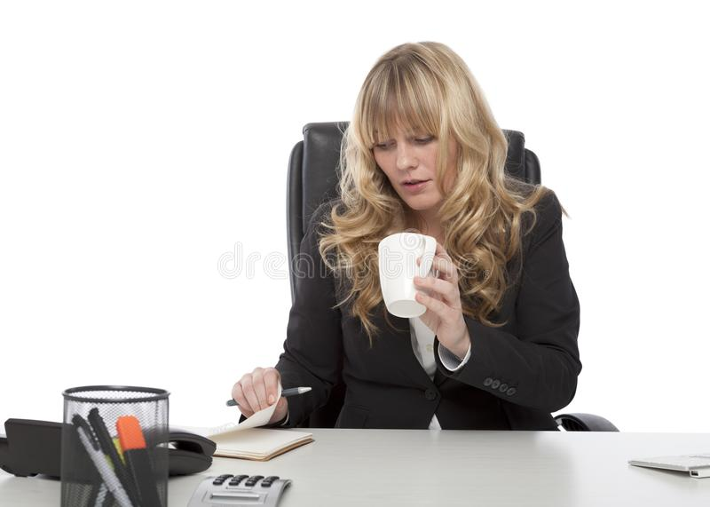 Mulher de negócios nova trabalhadora imagem de stock
