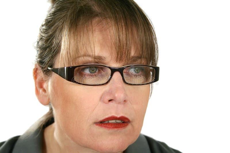 Mulher de negócios olhando fixamente fotografia de stock royalty free