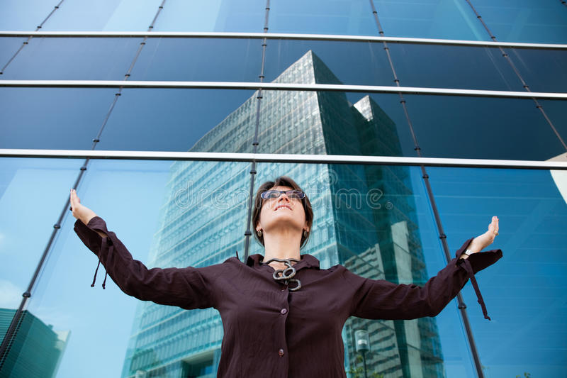 Mulher de negócios poderosa fotos de stock