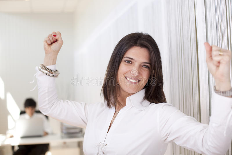 Mulher de negócios poderosa fotografia de stock