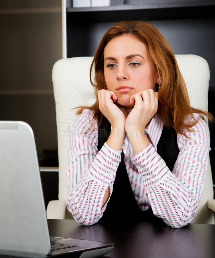 Mulher de negócios preocupada fotos de stock