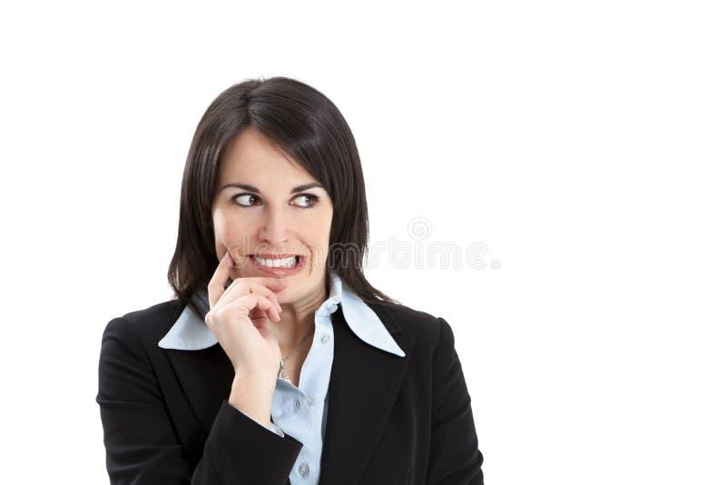 Mulher de negócios preocupada imagem de stock royalty free