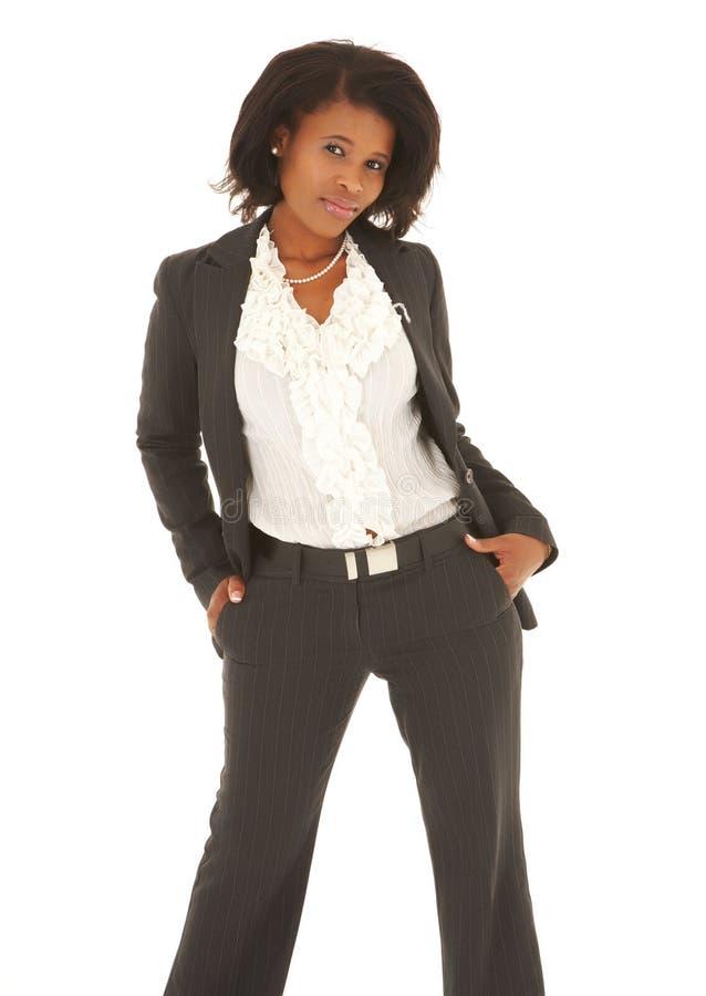 Mulher de negócios preta imagem de stock